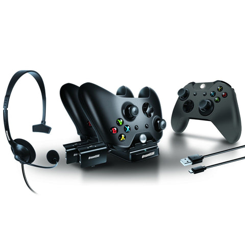 dreamGEAR Player's Kit for Xbox One - Headset/Charging Dock/USB Charge Cable/Silicone Controller Cover/Battery Packs