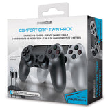 dreamGEAR  Comfort Grip Twin Pack Controller Sleeves Covers for PS4