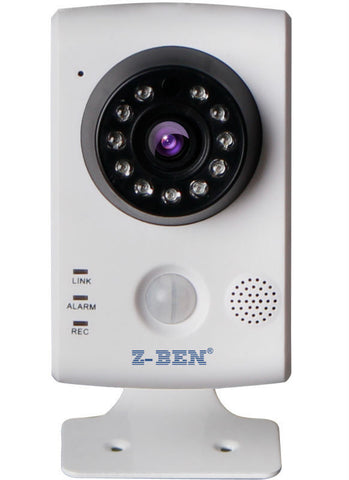 Z-Ben IPBH02 HD 1.0MP 720p PIR Sensor Wireless-N Plug & Play P2P IP Camera