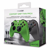dreamGEAR Xbox One Comfort Grip Twin Pack - Controller Sleeves Covers, Joystick Caps & Charge Cable