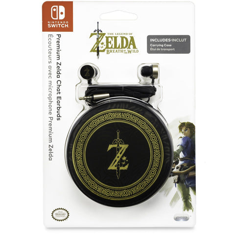 PDP Offical Nintendo Switch Premium Zelda Chat Earbuds Headphone
