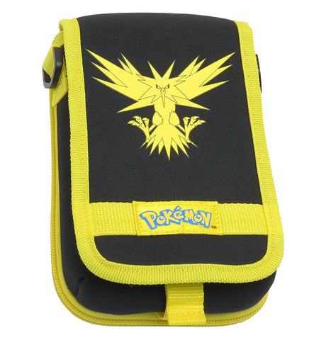 Hori Pokemon Zapdos Travel Pouch Case for New Nintendo 3DS XL & 3DS - Yellow