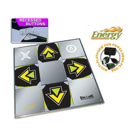 DDR Energy Metal Dance Pad for PS2 Wii Xbox PC/Mac (Xbox 360 - Optional)