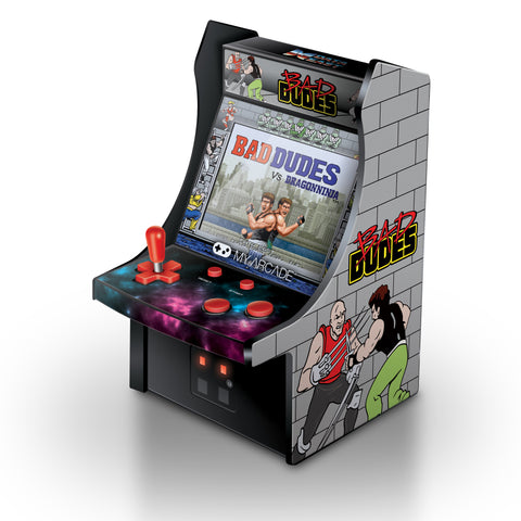 MY ARCADE Bad Dudes Micro Arcade Machine Portable Handheld Video Game