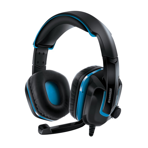 dreamGEAR GRX-440 Wired High Performance Headset for Xbox One/PS4/Nintendo Switch - Blue/Black