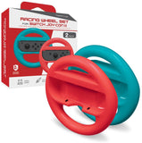 Hyperkin Racing Wheel Set for Nintendo Switch Joy-Con (Blue/ Red) (2-Pack)