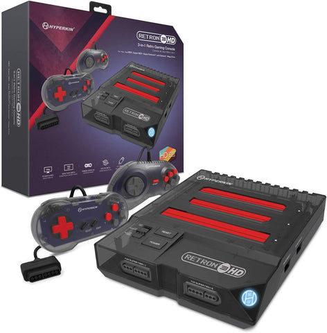 Hyperkin RetroN 3 HD 3-in-1 Retro Gaming Console for NES, SNES, Super Famicom, and Genesis/Mega Drive - Space Black