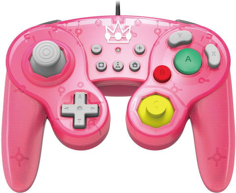 HORI Nintendo Switch Battle Pad GameCube Style Controller - Peach