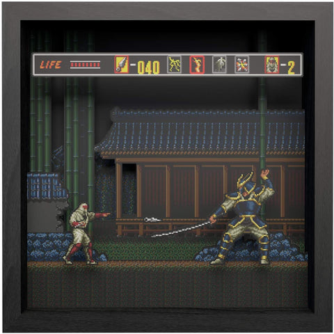 Pixel Frames The Revenge of Shinobi 9x9 Shadow Box Art - Officially Licensed by Sega