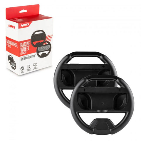 KMD Joy-Con Racing Wheel Dual Pack - Black for Nintendo Switch