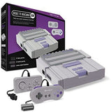 RetroN 2 2in1 Super Nintnedo SNES & NES Retro Video Game Twin Console - Grey
