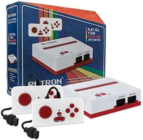 RetroN 1 Nintendo NES Video Game Console System - Red