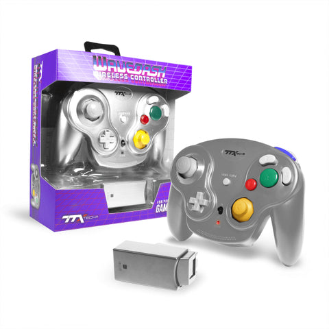 TTXTech GC Wireless Wavedash 2.4GHZ Controller for Nintendo GameCube and Wii/Wii U - Silver