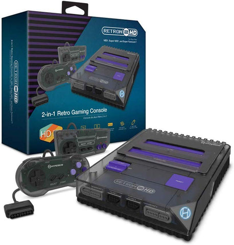Hyperkin RetroN 2 HD Gaming Console for Nintendo NES / SNES / Super Famicom - Space Black