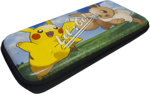 HORI Let's Go Pikachu/Eevee Pouch Case Officially Licensed By Nintendo & Pokemon for Nintendo Switch