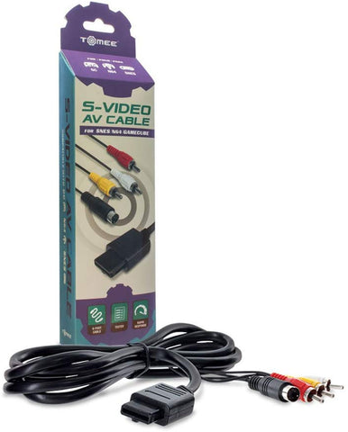 Tomee GameCube / N64 / SNES AV with S-Video Cable
