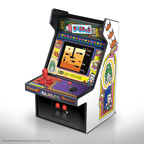 MY ARCADE BANDAI NAMCO Dig Dug Micro Arcade Machine Portable Handheld Video Game