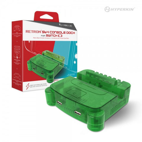 Hyperkin RetroN S64 Console Dock for Nintendo Switch - Lime Green