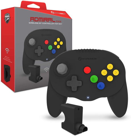 "Hyperkin ""Admiral"" Premium BT Wireless Controller for Nintendo 64 (N64) - Black"