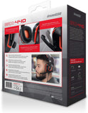 dreamGEAR GRX-440 Wired High Performance Headset for Nintendo Switch, PS4, and Xbox One - Red/Black