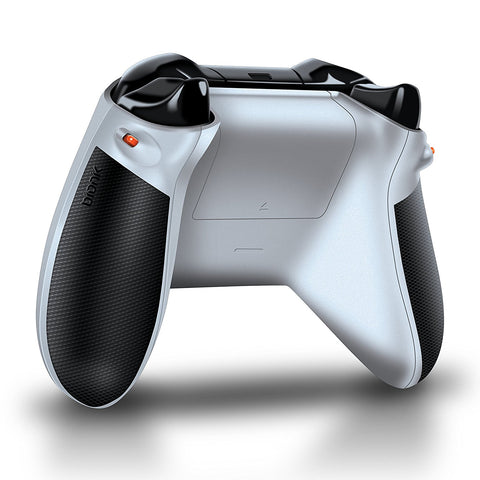 Bionik Quickshot Custom Rubber Grip w/ Dual Setting Trigger Lock for Xbox One Controller - White