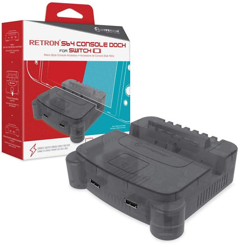 Hyperkin RetroN S64 Console Dock for Nintendo Switch - Smoke Gray