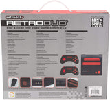 RetroDuo Nintendo NES & SNES 2in1 Twin Video Game Console System - Black/Red