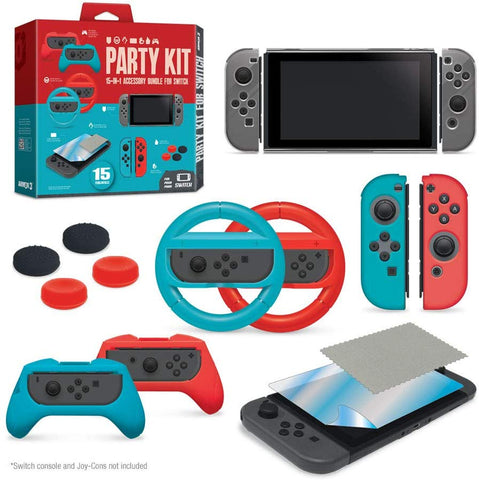 Armor3 Party Kit Starter Accessory Kit Bundle for Nintendo Switch