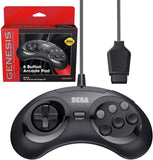 Retro-Bit Official Sega Genesis Controller 6-Button Arcade Pad - Original Port - Black