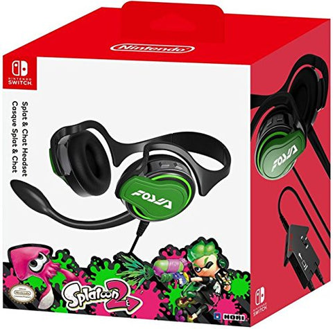 HORI Nintendo Switch Splatoon 2 Splat & Chat Headset