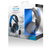 dreamGEAR GRX-340 Advanced Wired Gaming Headset for Xbox One/PS4/Xbox 360/Wii U - Black/Blue