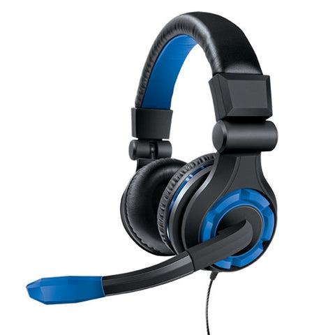dreamGEAR GRX-340 Advanced Wired Gaming Headset for Xbox One & PS4 - Black/Blue
