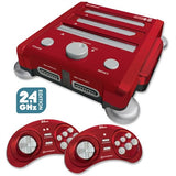 RetroN 3 NES, SNES, Sega Genesis Video Game Console 2.4 GHz Edition - Red