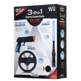 3 in 1 Game Essentials Plus Kit Wii - Black