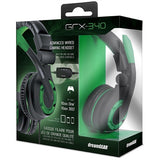 dreamGEAR GRX-340 Advanced Wired Gaming Headset for Xbox One & PS4 - Black/Green
