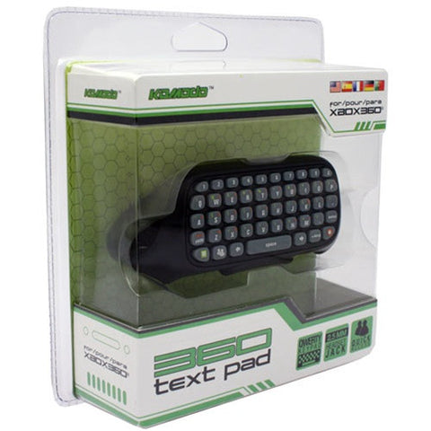 Xbox 360 Text Pad Keyboard - Black