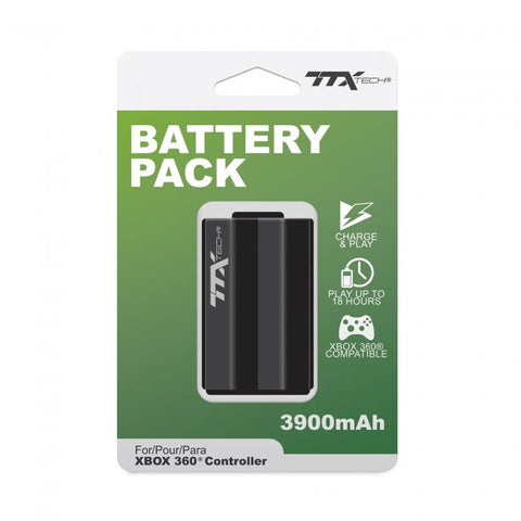 TTX Tech Rechargeable Battery Pack 3900mAh for Xbox 360 Controller