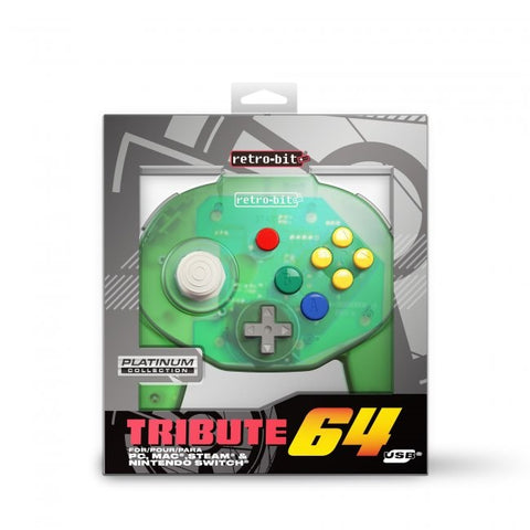 Retro-Bit Tribute Nintendo N64 USB Controller for PC