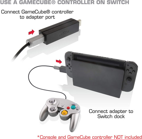 Nyko Retro Controller Adapter Single 1- Port GameCube Controller Adapter for Nintendo Switch