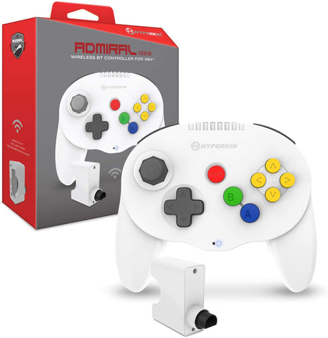 "Hyperkin ""Admiral"" Premium BT Wireless Controller for Nintendo 64 (N64) - White"