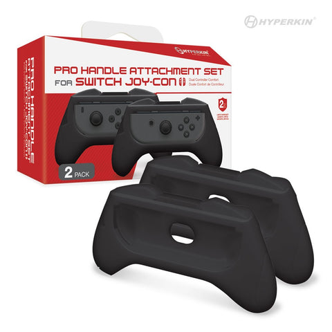Hyperkin Pro Handle Attachment Set for Nintendo Switch Joy-Con (Black) (2-Pack)