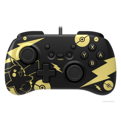 HORI Nintendo Switch HORIPAD Mini Wired Controller Black & Gold Pikachu Edition - Officially Licensed By Nintendo & Pokémon