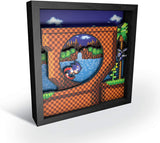 Pixel Frames Sonic The Hedgehog Loop Scene 9x9 Shadow Box Art - Officially Licensed