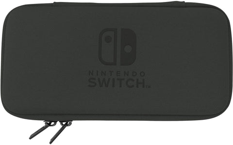 Hori Official Nintendo Switch Lite Slim Tough Pouch Case - Black