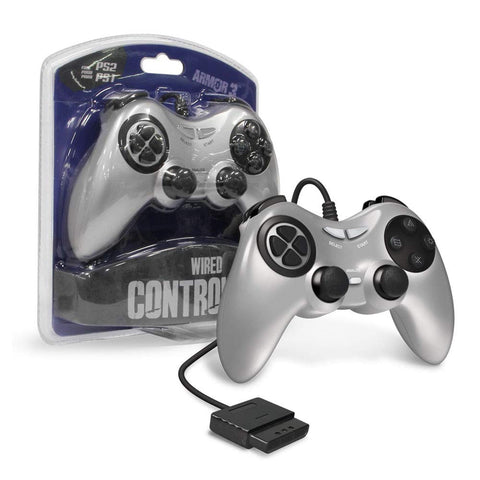 Armor3 Wired Game Controller for PS2 - Silver