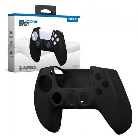 KMD Silicone Grip Case for PS5 DualSense Controller (Black, White, Blue)