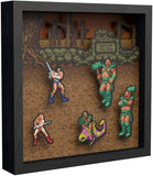Pixel Frames Golden Axe 9x9 inches Shadow Box Art - Officially Licensed