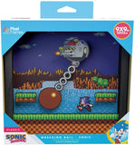 Pixel Frames Sonic The Hedgehog Wrecking Ball 9x9 inches Shadow Box Art - Officially Licensed