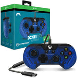 Hyperkin Official X91 Ice Wired Controller for Xbox One/ Windows 10 PC - Pacific Blue