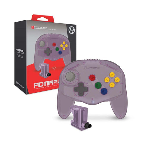 "Hyperkin ""Admiral"" Premium BT Controller For N64/ Nintendo Switch/ Nintendo Switch Lite/ PC/ Mac/ Android = Amethyst Purple"